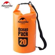 Naturehike 10L 20L Portable Outdoor Sport 500D Ocean Waterproof Bag Drifting Rafting free Shipping(China)