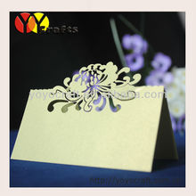 elegant flower wedding favors and decorative party various designs table seat card(China)