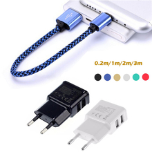 0.2M 1M 2M 3M Nylon Braided Micro USB Charger Charging Cable Adapter for Samsung Galaxy s7/edge/a5/a3/j5/j3/j7/a7/2016/note 5/4