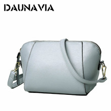 DAUNAVIA 2017 New Summer Style Women Shell Bags Fashion Pu Female Shoulder Bag Girls Party Messenger Bags