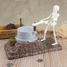 New Child Gift Grinding Skeleton Coin Money Box Sounds Money Makes the Mare talks Piggy Bank Coin Bank Money Box