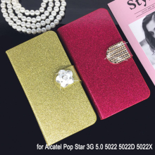 Buy Flip Phone Case Cover Alcatel Pop Star 3G 5.0 5022 5022D 5022X Original Rhinestone Cases Bling Fundas Diamond Coque for $3.80 in AliExpress store