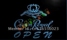 LA049- Crown Royal Beer OPEN Sign LED Neon Light Sign