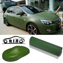 High Quality Matte Army Green Car Wrap Vinyl Film Matte Vinyl Wrap With Air Free Vehicle Wraps Size:1.52*30m/Roll