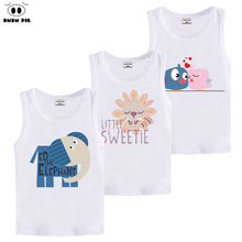 DMDM PIG Teenage T Shirts Baby Girl Clothes T-Shirts For Boys Girls Tops Kids Basic Children's Sleeveless T-Shirt Cotton TShirts(China)