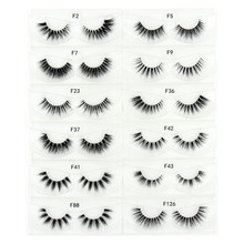 Mink Eyelashes Invisible Band Lashes Natural 3D Mink False Eyelash Full Strip Transparent band lashes cilios posticos 12 styles(China)
