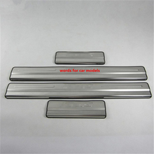 Stainless steel door sill strip for 2009-12 Ford focus exterior Threshold trim car styling welcome pedal Scuff plate cover film(China)