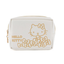 Cartoon Portable Waterproof Travel Cosmetic Makeup Bag Hello Kitty Ziplock Bag PU Storage Bag B55(China)