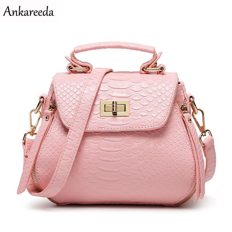 Ankareeda New Luxury Bags Handbag Women Bags Handbags Women Famous Brands Crocodile Grain PU Leather Shoulder Tote Fashion Lady<br>