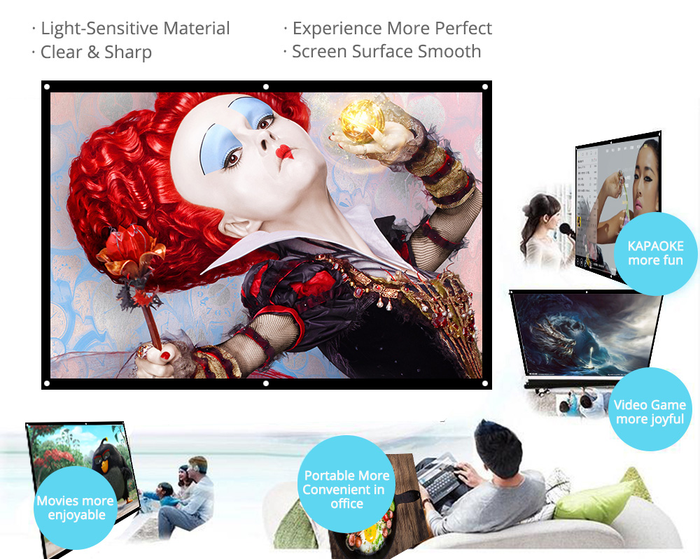 Wall Mounted Projector Screen 1