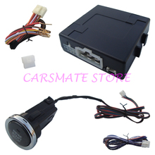 Smart Car Engine Start Stop System with Long Size Push Button Compatible with Original Car Alarm Remote Start Function Carsmate