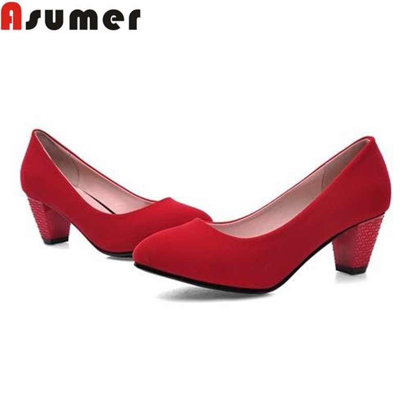 big size 47 dress shoes comfortable sweet style shoes high quality new arrive suede red black women pumps<br><br>Aliexpress