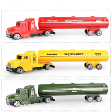 1/32 Die cast Car toy alloy & ABS Engineering vehicles car model oil Tank Container truck mini toys for children kids gifts new(China)