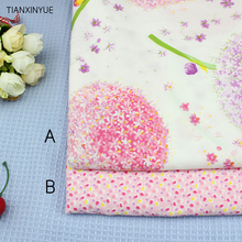 TIANXINYUE Pink dandelion fabric cotton Fabric diy For sewing patchwork home Textile tablecloth fabric(China)