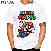 New Men Fashion T shirt Hipster Printed Tee Shirts Short Sleeve Tops Super Mario periodic table T-Shirt Muscle SuperMario player
