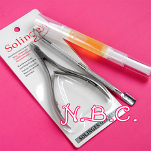 1set Cuticle Oil Tweezer CutterNail Pusher Spoon Remover Stainless Steel Cuticle Metal Manicure Pedicure Care Cleaner Tools
