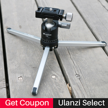 Ulanzi Leofoto Compact Aluminum Camera Travel Tripod Stand with Ball Head for Travelers,Table Tripod for Nikon Canon Sony DSLR