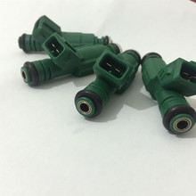 "6 # Free shipping HIgh performance  440cc  ""Green Giants"" fuel injector 0280155968 for volvo ford racing"