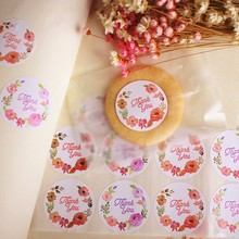 120pcs Thank You Round Seal Sticker Flower Design Sticker Labels Food Seals,Gift sticker for Wedding Seals Sticker