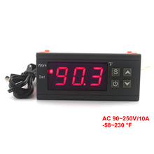 -58~230 Fahrenheit  90~250V Thermostat Temperature Controller Digital Thermometer Heating Cooling Control With Sensor