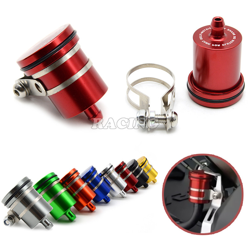 Universal Motorcycle Brake Fluid Reservoir Clutch Tank Cylinder Master Oil Cup For honda cb 600 hornet goldwing gl1800 pcx steed<br><br>Aliexpress
