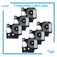 6pcs Cheap price Dymo D1 45013 Black on White or mix colors 12mmx7m for Dymo Label manager 160/210D/260P/280(China)