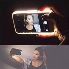 OWNEST Fashion Phone LED Lighting Selfie Case for iPhone 5 5s 6 6S Plus Ordinary Phone Cover In stock