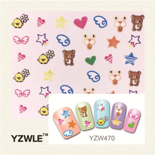 YZWLE 1 Sheet 3D Design Stylish Beauty Black Mustache Nail Stickers Nail Art Stickers Decals Decoration Accessories