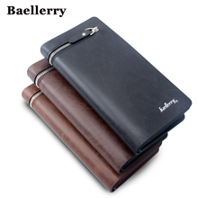 Wallet Men Top Quality Male Clutch Big Capacity Cellphone Bag PU Leather Zipper Pocket Card Holders Man Purse Long