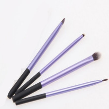 4Pcs Pro purple Makeup Brush Kits Professional Cosmetic Makeup Brush Foundation Eyeshadow Eyeliner Brush Kits BO(China)