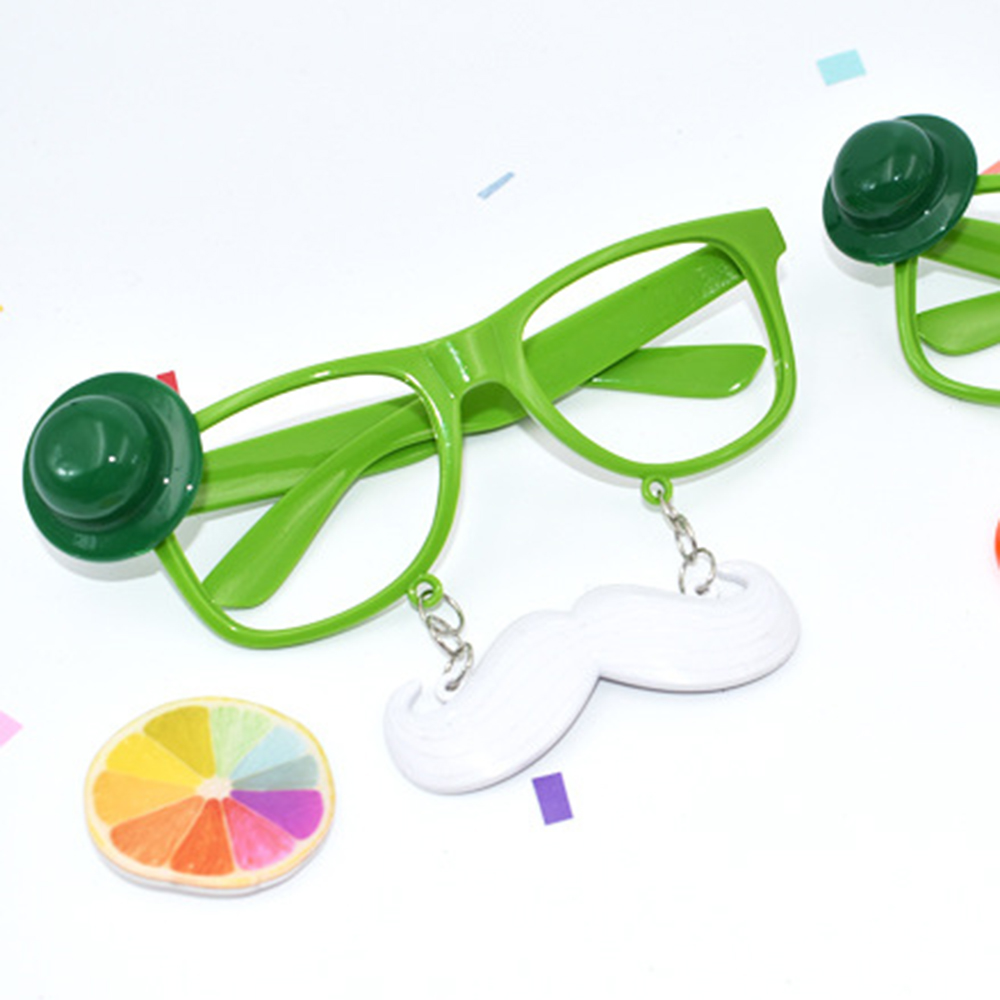 Funny Shamrock Design Sunglasses Creative Holiday Cosplay Costume Glasses Accessory Men's Glasses Men's Eyewear Frames
