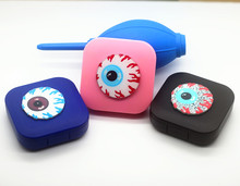 LIUSVENTINA DIY acrylic  terror eyes pattern contact lens case for eyes contact lenses box for glasses