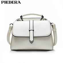 PHEDERA Brand Luxury Ladies Messenger Bags Fashion Summer Bag for Women High Quality PU Leather Female Handbag White Lady Totes