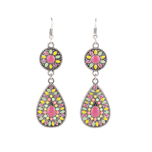 Fancy Design Brand Bohemia women earrings High Quality Women Jewelry Fashion Colorful Oil Painting Earrings Jewlry wholesale