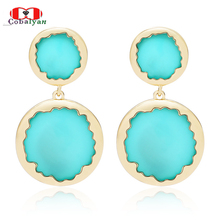 New Arrival Hottest Fashion Personality International Translucent Candy Colors Drop Earrings,Factory Price,Wholesale