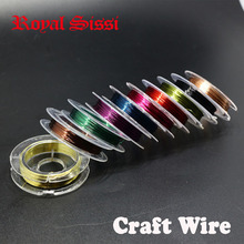 10PCS/lot 10 Colors Mixed diameter 0.3mm Copper wire/ Fly Fishing lure bait making material Midge Larve Nymph Fly Tying Material(China)