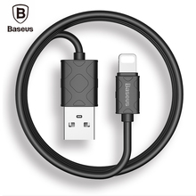Baseus for iPhone se 5s 6 6s Cable iOS 7/8/9 USB Charging Cable 5V 2.1A 1M Data Sync Fast Charger Cable for iPad mini 2 3 Black