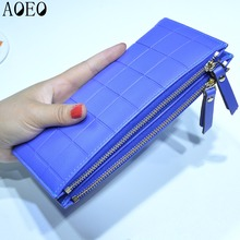 Red Wallet Women Plaid Leather Purses Long with Double Zipper Bags Big Capacity Holder Organizer Dollar Price Wallet Lady Clutch