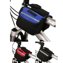 2L Anti-slip Bicycle Tube Bag Bike Top Frame Front Pannier Saddle Tube Double Side Bag With Reflective Strip Both Side