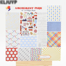 KLJUYP 24 Sheets Auseaent Park Scrapbooking Pads Paper Origami Art Background Paper Card Making DIY Scrapbook Paper Craft(China)