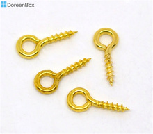 Doreen Box Lovely 1000 GP Screw Eye Bail Top Drilled Findings 10x4mm (B09466)(China)