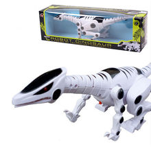 Boys Kids Universal Machine Electric Dinosaur With Light Sound Educational Toy(China)