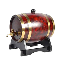 1.5L wood cask wine arrel oak barrels red pine wooden barrel keg cask Home Brewing inner tant wine red color JH060(China)