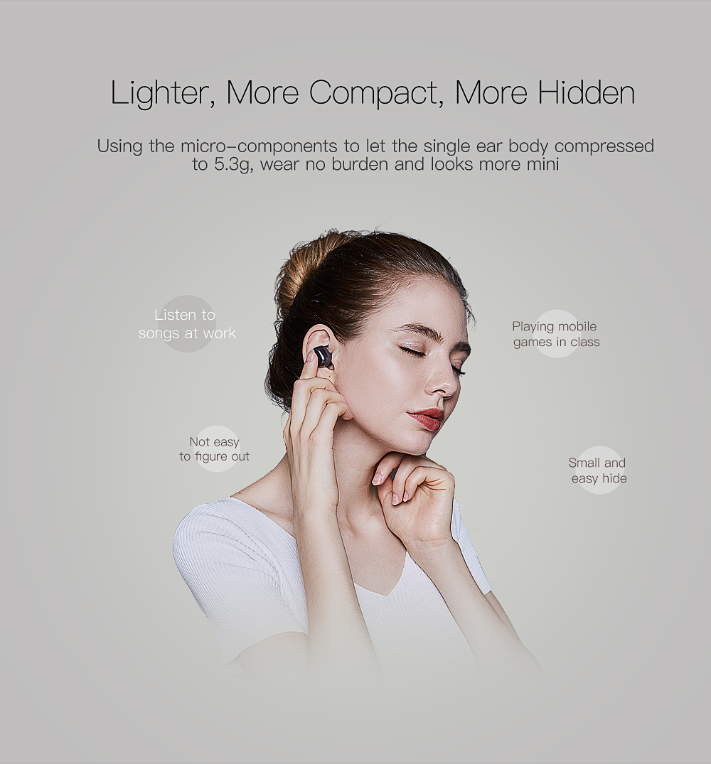 QCY Q29 Bluetooth Earphones with Mic Wireless Music Headset for 3D Stereo Earbuds with Charging Box Handsfree Phone Earphone