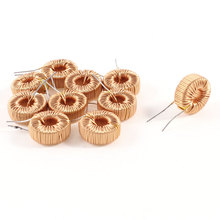 UXCELL 10 Pcs Toroid Core Inductor Wire Wind Wound 180Uh 190Mohm 1A Coil