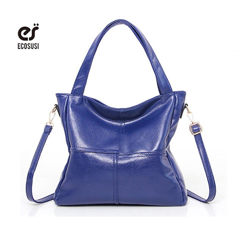 ecosusi Brand Women Messenger Bags Fashion Women Shoulder Bags Office Lady Handbag Purse Leather Tote Ladies Solid Crossbady Bag<br><br>Aliexpress