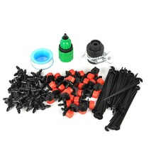 1 Set 25M DIY Micro Drip Irrigation System Plant Automatic Self Watering Garden Hose Kits with Connector+30x Adjustable Dripper