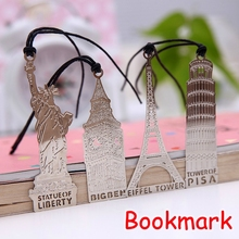 (48 Pieces/Lot) The Eiffel Tower Silver Bookmark / Novelty Bookmarks For Books / Vintage Metal Book Mark UP-8568
