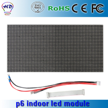 P6 indoor/semi-outdoor SMD rgb 384*192mm full color LED display module 64*32 pixel video screen wall board 1/16 scan drive(China)