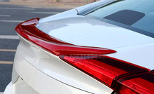 2016 2017 Red Rear Trunk Lid Wing Spoiler For Honda Civic 10th Gen 4dr Sedan